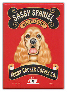 Retro-Dogs-Refrigerator-Magnets-COCKER-SPANIEL-COFFEE-Vintage-Advertising