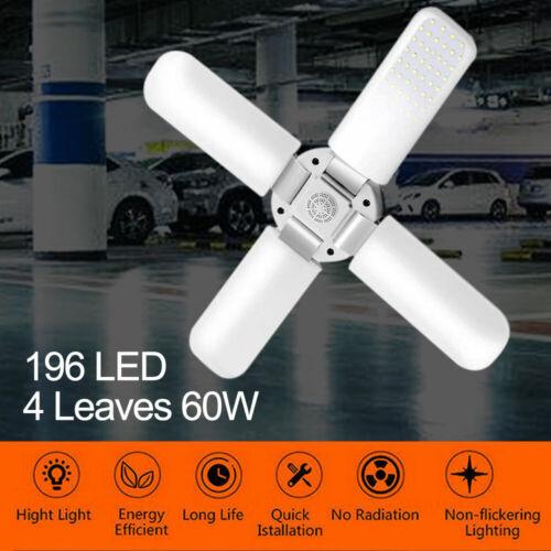 60W LED Garagenleuchte E27 Verformbare Einstellbar Garage Hallenfluter Werkstatt