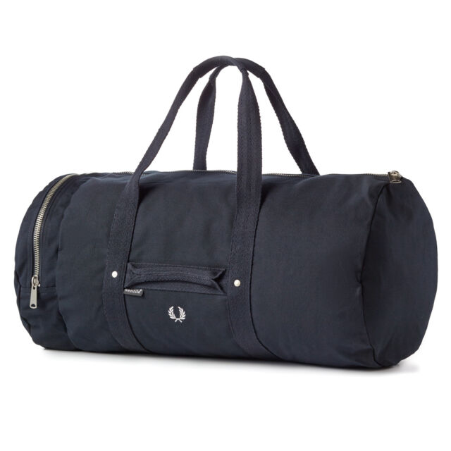 15a6a34025e Fred Perry Navy Ventile Canvas Duffle Bag for sale online | eBay