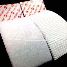 2 x VELCRO BRAND® 50mm x 100mm HEAVY DUTY HOOK & LOOP SELF ADHESIVE STICKY WHITE
