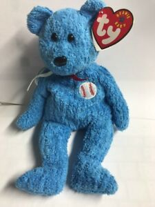 e13c11ce86f Image is loading Ty-Beanie-Baby-Addison-Chicago-Cubs-Baseball-Bear-