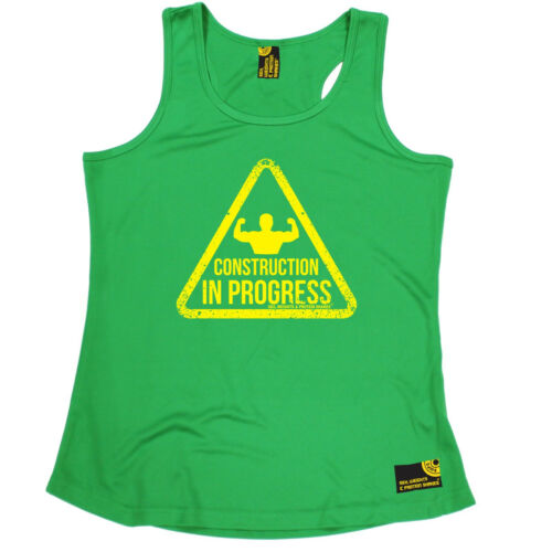 Construction In Progress SWPS WOMENS DRY FIT VEST birthday gym fitness training