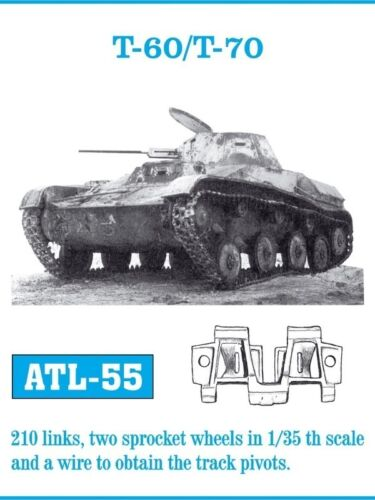 T 70 Scala 1//35 Cod.ATL-55 FRIULMODEL METAL TRACKS T 60
