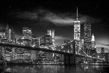 NEW YORK CITY - FREEDOM TOWER - POSTER - 24x36 MANHATTAN NIGHT NYC 34017