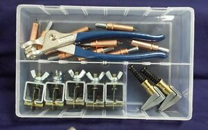 """Standard Cleco & intergrip Temporary Fastening Kit- 3/16"""" clecos pliers &I/grips"""