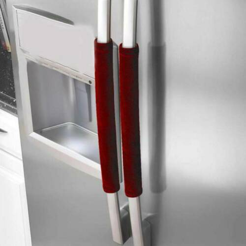 Red Protect Glove Oil-proof Tool Household Oven Refrigerator Handle Covers N3
