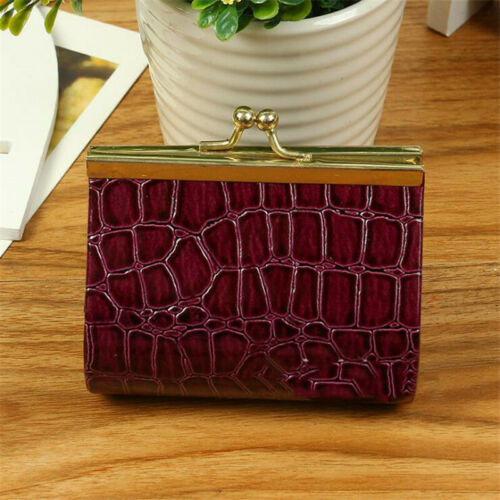 Stylish Women Short Wallet Card Holder  Embossed Purse Clutch Handbag Jian