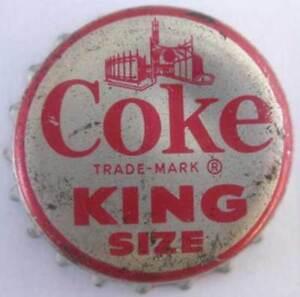 Details about COKE KING SIZE Cork-lined Soda CROWN, Bottle CAP, Coca-Cola  Plant, Waterloo IOWA