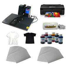 "16""x24""heat press machine A3 size printer paper ink ciss start-up kit t-shirt"