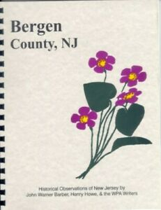 NJ-BERGEN-County-New-Jersey-1847-Barber-History-RP-HACKENSACK-PALISADES-NEW