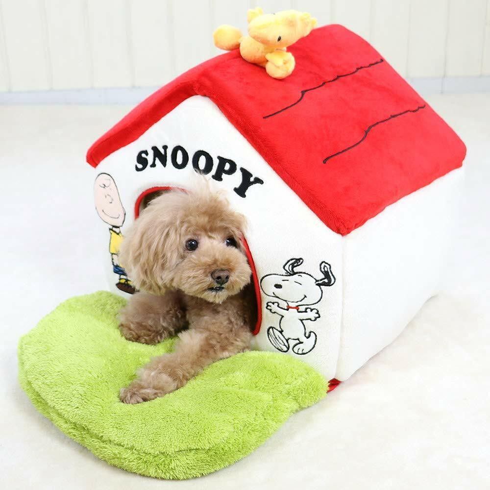 Snoopy garden with rot roof house with garden Smal lWashable Pet paradise