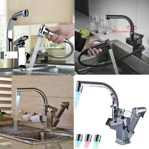 Ausziehbar-Wasserhahn-Kuechenarmatur-360-drehbare-Armatur-Kueche-Spueltischarmatur