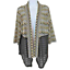thumbnail 1 - Alfred Dunner Cardigan Top Knit Lace Open Front Layering Black Tan 3/4 Sleeve M