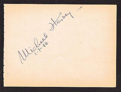 Pflichtbewusst Michael Harvey d.1975 Unterzeichnet Autogramm 4x5 Album Seite Actor The Long In Vielen Stilen