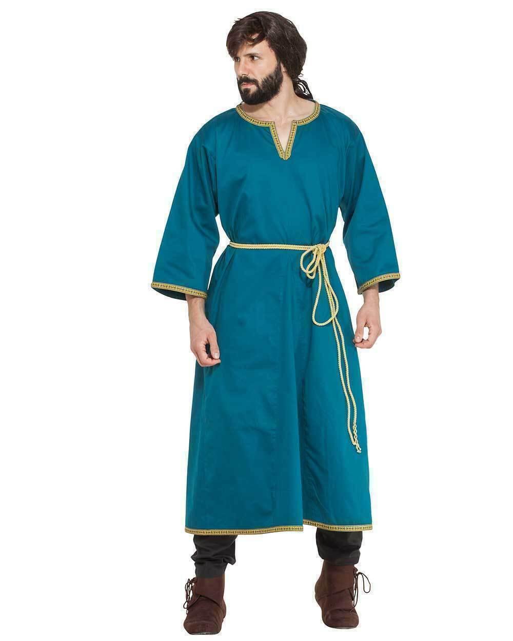 Medieval Celtic Viking Tunic Blue Sleeveless Amazin Colors renaissance