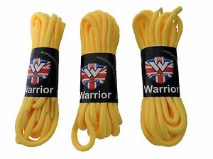 Pack-of-3-Pairs-Warrior-Yellow-Strong-Long-Round-Boot-Shoe-Laces-Punk-Skinhead