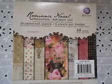 "Prima Romance Novel  6"" x 6"" Discontinued Scrapbooks/Cards/Journals/Paper Crafts"