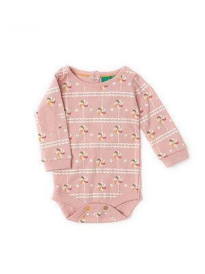 Little Green Radicals Pointelle Stripe S//s T Shirt sky blue 2 3 4 5 6 7 8