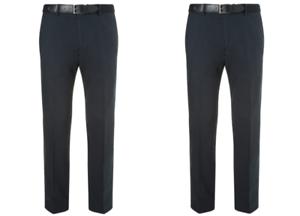 JOHN LEWIS Navy Semi Formal Linen Blend Trousers BNWT SIze 34S W34 L30 RRP