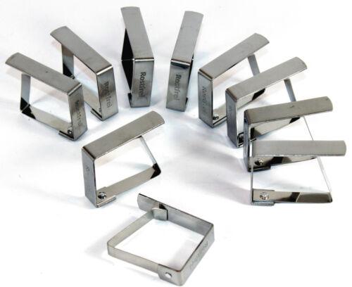 Tischtuchklammern 8 Stück Edelstahl Tischtuchhalter Tischtuchbeschwerer Klammern