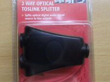 AUDIO DIGITALE TOSLINK SPLITTER OTTICO 1 - > 2 per Xbox360 SKY PS3 PS4 SAT SPDIF