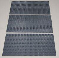 Lego 3 Brand 16 X 32 Dot Bluish Grey Baseplate Building Plate Platform Piece