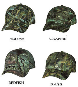 Camouflage-Fishing-Cap-Bass-Walleye-Crappie-Redfish-Baseball-Hat-fishouflage