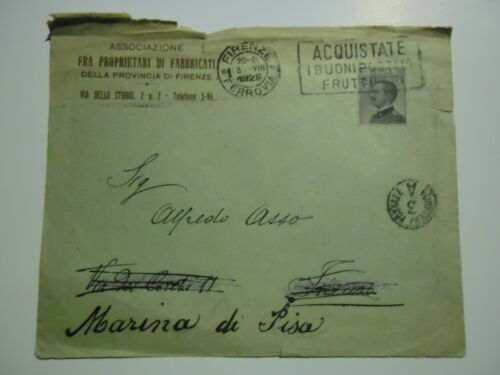 LETTER 3.8.1926 ASSOCIATION FRA OWNERS OF BUILDINGS PROVINCIA DI FIRENZE