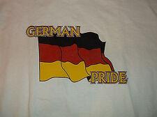 Flag of Germany GERMAN PRIDE Short Sleeve T Shirt Sz XL 100% Cotton White
