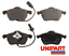thumbnail 1 - For Skoda - Superb 2002-2008 Front Axle Brake Pads Top Quality Set Unipart