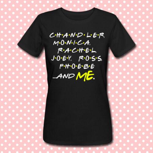 serie tv nera! T-shirt donna Friends inspired con i nomi dei personaggi