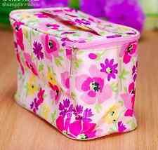 Clinique Floral Print Makeup Bag Cosmetics Pouch Train Case