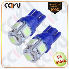 2Pcs Aqua Ice Blue 5050 5SMD LED Bulbs For Car License Plate Lights T10 168 194