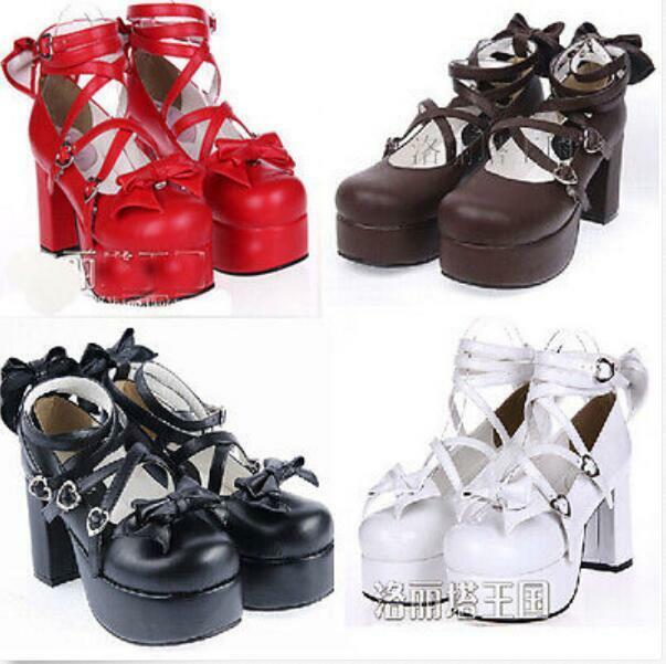 Para mujer lolita lolita lolita dulce Bowknot bombas Mary Jane Nuevos Zapatos De Salón Tacón Bloque Plus Sz 9c9f15