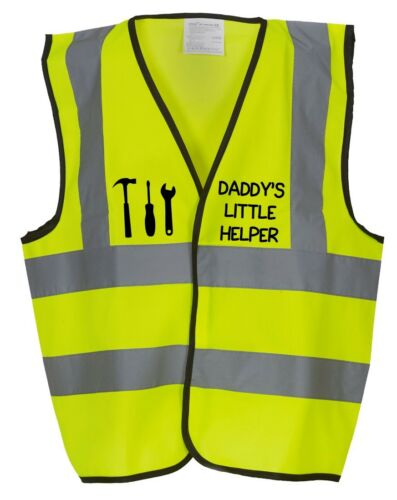 Kids Fancy Dress Builder DADDY/'S LITTLE HELPER Children/'s Hi-Vis Waistcoat