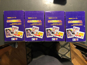 (4) 1991 O-Pee-Chee Hobby Box Baseball Cards Condition is very good.
