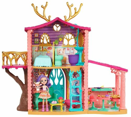 Cosy House Playset with Danessa Deer Doll and Sprint Figure Multi-Colour