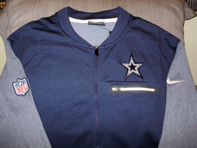 NFL Dallas Cowboys Nike Dri-Fit Coaches Circuit 1 2 Zip Golf Jacket Men s 448f84418