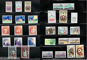 SUPERFLEAS-Canada-1970-039-s-Olympic-Set-MNH-stamps-incl-surcharged-B-series