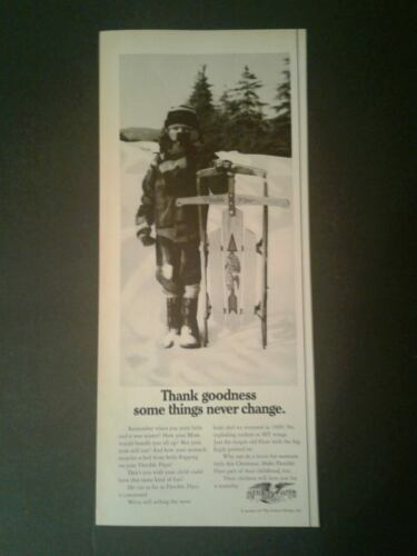 1969 Flexible Flyer Winter Snow Sleds Black & White Vintage Toy Promo AD