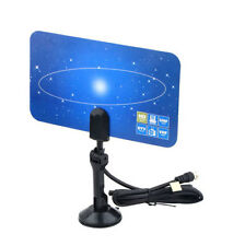 Digital TV Antenna HDTV DTV Box Ready HD/DTV/UHF/VHF/FM Flat Design High Gain
