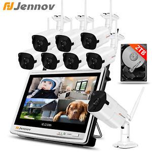 Jennov-8CH-1080P-Wireless-2MP-Wifi-IP-Camera-LCD-Monitor-NVR-CCTV-System-1-2TB