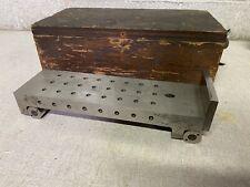 Large Machinist Sine Bar Tool Amp Die Maker Sine Plate With Wood Case