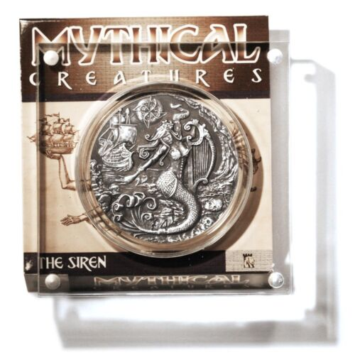 British Indian Ocean Territories The Siren 2oz Silver 4 Pound Coin Display Stand