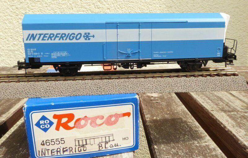 Roco 46555 H0 2 Ejes Vagón Frigorífico, Azul,  Interfrigo  el FS Época 5 6