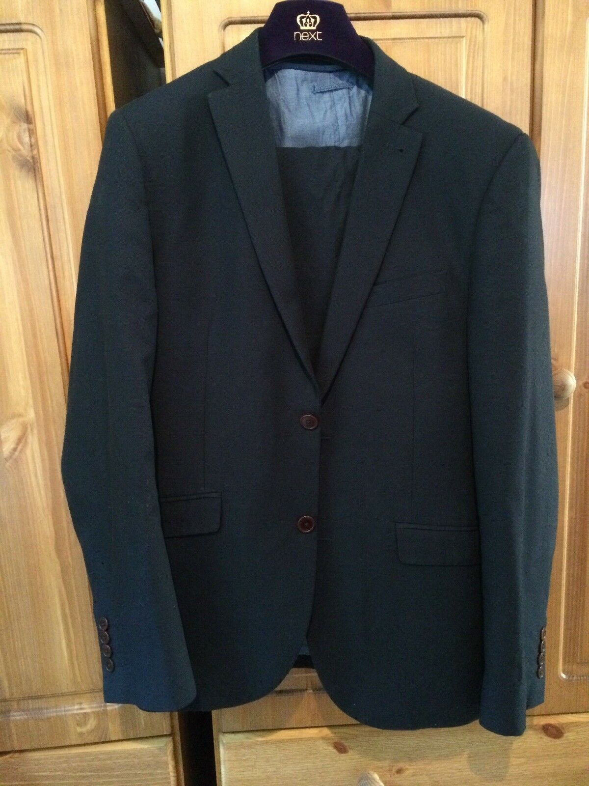 "f6fa06790 Dark 3 Peice Suit 40 38"" Chest bluee nvaxoa3599-Suits & Suit ..."