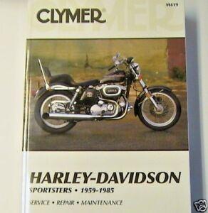 59 85 ironhead sportster clymer service manual h ch xlch xlh xlcr rh ebay com 1974 Ironhead Sportster 1974 Ironhead Sportster
