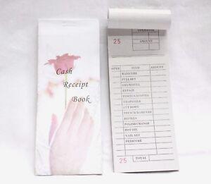 salon cash receipt book nail service check pad ticket books 100ct