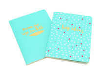 Two Aqua Dream One Size Too Big And Big Ideas A6 Notebook Lined Journal