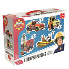 Jumbo Games Fireman Sam 4 in 1 Shaped Jigsaw Puzzles